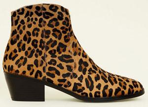 Tan leopard boots