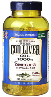 Pescatarian Cod Liver Oil 1000mg 240 Softgel Capsules