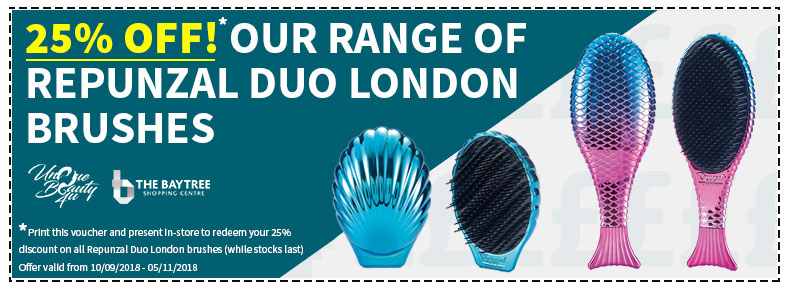 25% off Repunzal Duo London Brushes - The Baytree Shopping