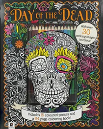 The Works Day of the Dead Colouring Set
