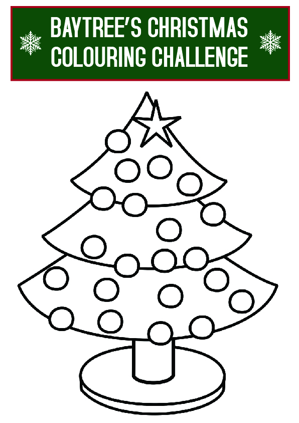 Baytree's Christmas colouring challenge