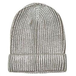 Foil Knit Beanie - Silver