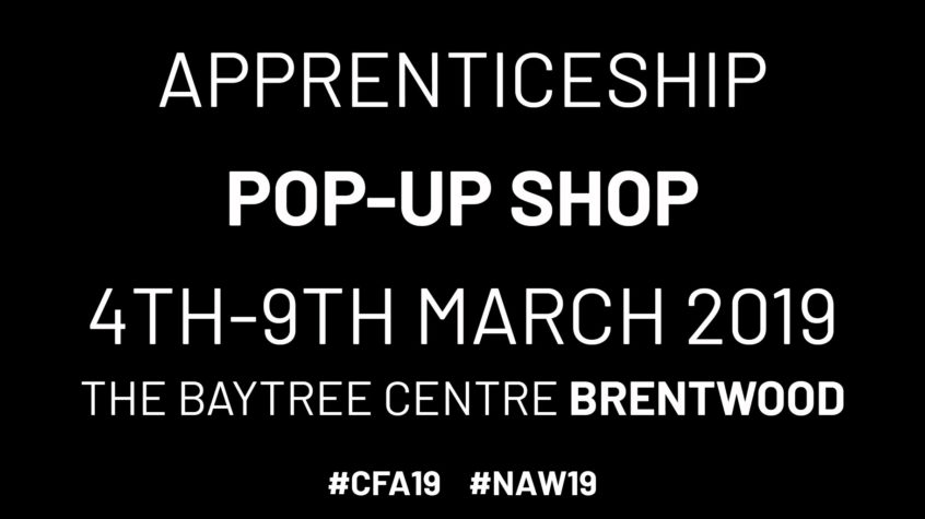 apprenticeship pop-up shop
