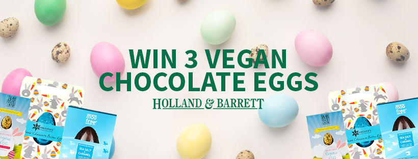 Win 3 Vegan chocolate eggs