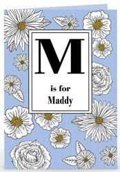 Personalised Card - Initial & Daisies