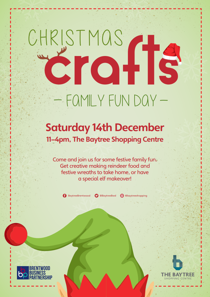 Festive Family Crafts Saturday 14th December 11am – 4pm