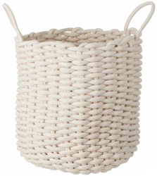 Rope Storage Basket Round Cream