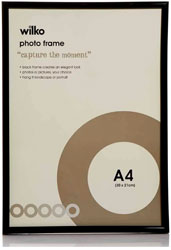 Black Easy Photo Frame A4 4 Pack