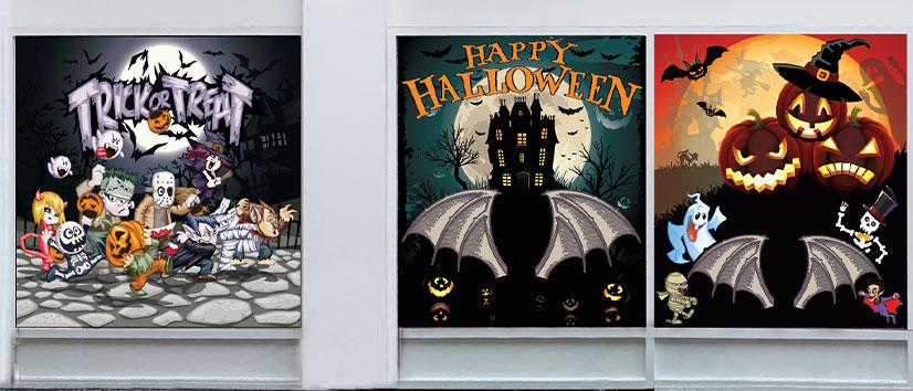 halloween window vinyls